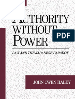 John Owen Haley - Authority without Power_ Law and the Japanese Paradox (Studies on Law and Social Control) (1994).pdf