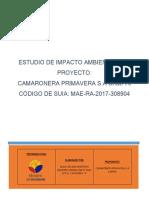 Estudio de Impacto Ambiental Del Proyecto Camaronera Primavera s a Campri Cc3b3digo de Suia Mae Ra 2017 308904