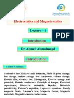 Lec.1a - COMM 220 Electrostatics and Magneto Statics