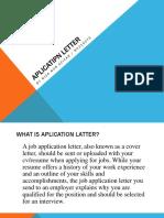Aplication Letter
