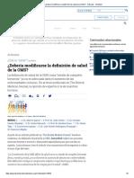 ¿Debería Modificarse La Definición de Salud de La OMS_ - Artículos - IntraMed
