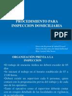 Procedimientos Para La Inspección Domiciliaria