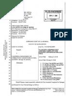KARUNA ANAND, Plaintiff, SUPERIOR COURT OF CALIFORNIA COUNTY OF SACRAMENTO Case No.
