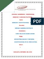 Derntralizacion y Reforma Constitucuional Actual NUEVO (1)