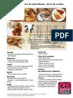 Menu de La Cuisine de Meme Moniq 10 Au 26 Octobre