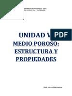 Unidad v. Medio Poroso. Estructura y Propiedades