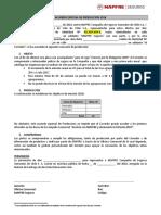 Acuerdo Especial de Producción 2018