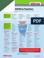 Explaining ADHD to Teachers