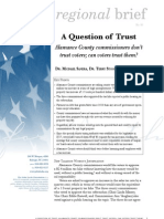 Regional Brief 83 A Question of Trust