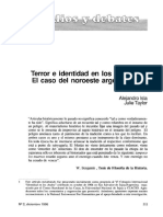 Isla & Taylor (1995) Terror e Identidad en Los Andes- El Caso Del Noroeste Argentino