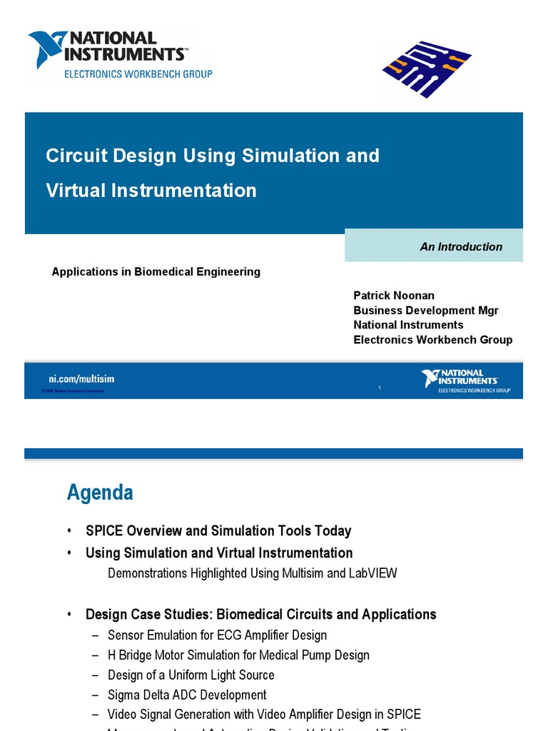 Circuit Design Simulation And Virtual Instrumentation Spice Electronic Tools