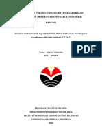 Resume UU Ketenagakerjaan No.13 Tahun 2003