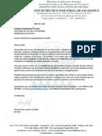 Carta Banda Invitada Tocancipa