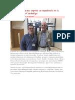 Docente Autónomo Expone Su Experiencia en La Universidad de Cambridge