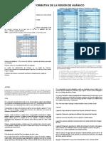 Ficha Informativa de La Región de Huánuco