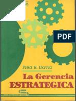 La Gerencia Estrategica - F David