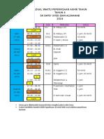Jadual Peperiksaan Akhir Tahun Year 4 2014