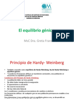 Equilibrio Génico Ley Hardy-Weinberg Clase 5
