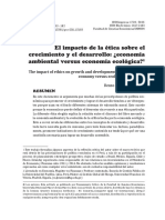 El Impacto de La Ética Sobre El Desarrollo Ecologico