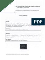 UE 2.4.2 Applications sectorielles et fonctionnelles du contrôle et de l'audit – Contrôle de Gestion Public (I.A.E Bordeaux M 2 DFCGAI)