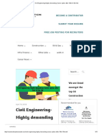 Civil Engineering-Highly Demanding Career Option After 10th & 12th Std