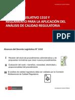 Presentación DL y Reglamento 1310