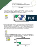 Primer Examen de Reforzamientos Matematica