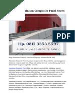 Harga Aluminium Composite Panel Seven Hp. 0812 3353 5597