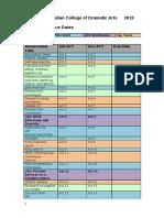 assessment due dates