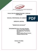 Derecho Laboral-beneficios Sociales