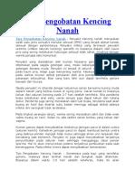 Tips Pengobatan Kencing Nanah