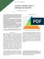 Organizaciones, Sistemas, Roles y Metodologías de Desarrollo