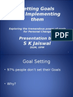 Goal Setting and Implementing