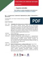 Programa Extendido VI CNCS COMECSO
