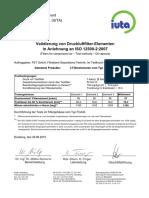 Validierungszertifikat IUTA ISO12500-2 EFST a-20100629
