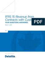 IFRS 15 Revenue From Contracts With Customers Your Questions Answered July 2015