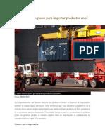 Para Importar Productos en El Perú