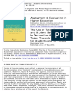 The Use of Tutor Feedback and Student Self-Assessment in Summative Assessment Tasks Towards Transparency for Students and for Tutors