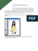 Cara Memotong Gambar Wajah Dengan Photoshop
