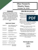 newsletter 10-26