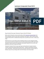 Harga Aluminium Composite Panel 2019 Hp. 0812 3353 5597
