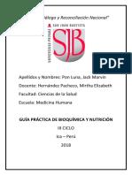Informe 03 - Bioquímica y Nutrición