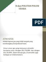 Atmosfer Dan Polutan Polusi Udara