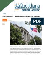 Abusi Sessuali, Chiesa USA Nel Mirino Dei Federali