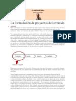 28. Formulación de Proyectos de Inversión Jul Sep 2012