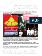 Ndf Election Campaign Banned in Some Parts of Myitkyina