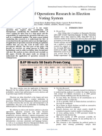 Application of Operations Research in Election Voting System