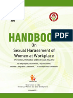 Handbook on Sexual Harassment of Women at Workplace