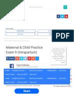 Maternal & Child Practice Exam 9 (Intrapartum)