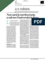 Non sarà la meritocrazia a salvare l'università italiana - Il Fatto Quotidiano del 29 ottobre 2018